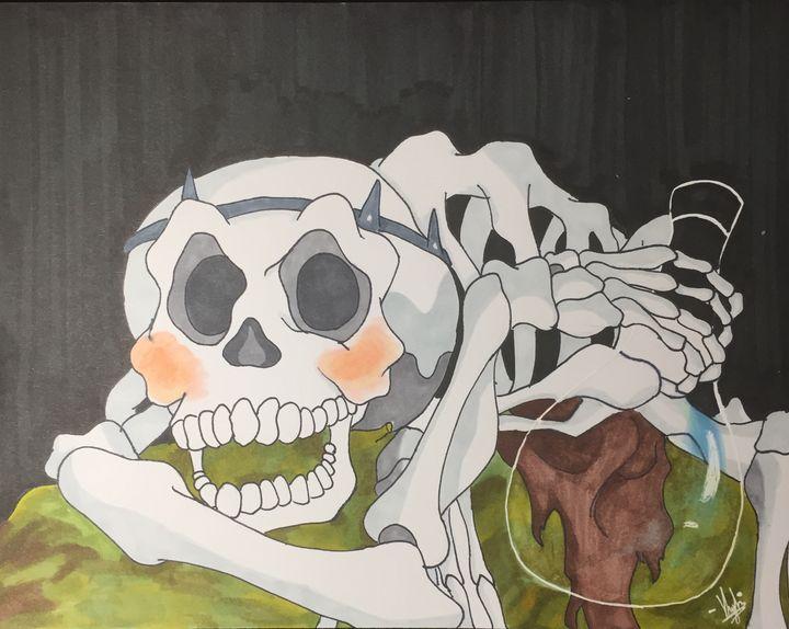 Skeleton from the last unicorn - Kylie Bessette