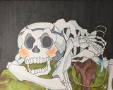 Copic illustration of skeleton