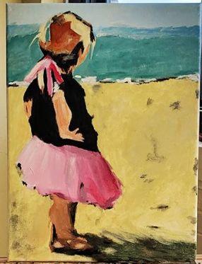 Little girl and horizon - Mucchiani