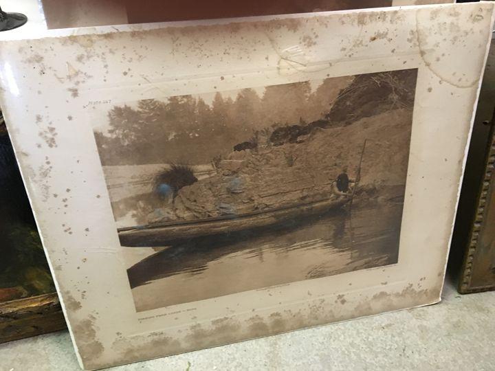 Fishing From Canoe plate 447 - Eric's Treasures