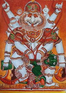 Mural art of narasimha