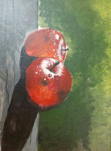 Original painting of apple