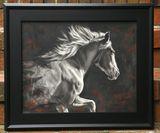 Original charcoal painting
