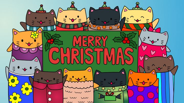 Christmas kitties - Taylor Levix