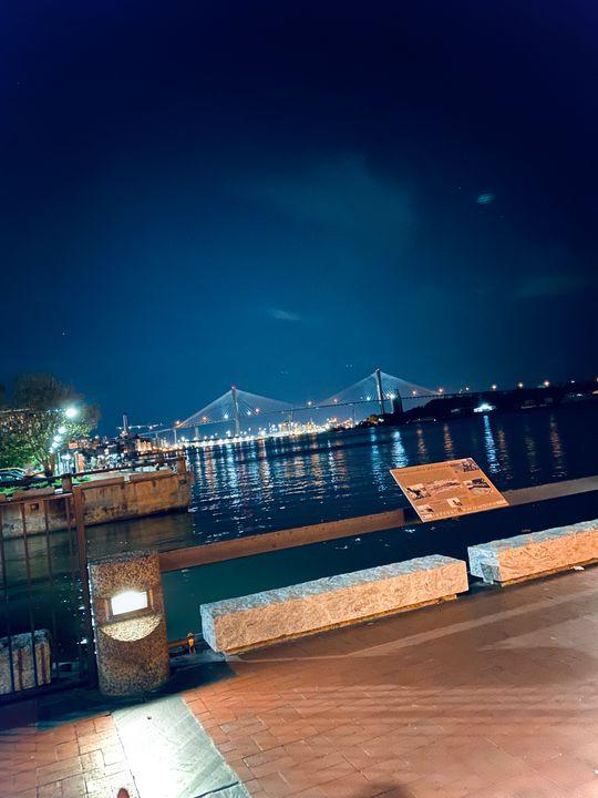The Talmadge memorial bridge - Taylor Levix