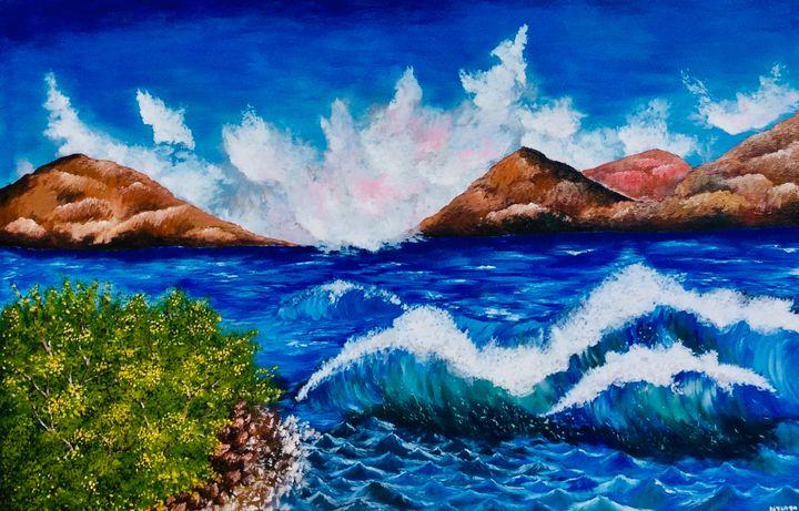 Violent water - Nyunga art