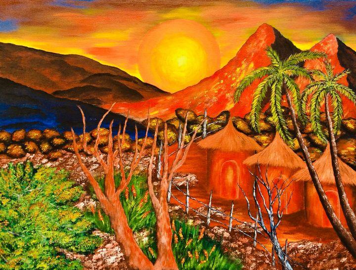 Rocky topography - Nyunga art