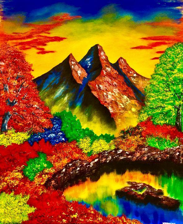 Colored trees - Nyunga art