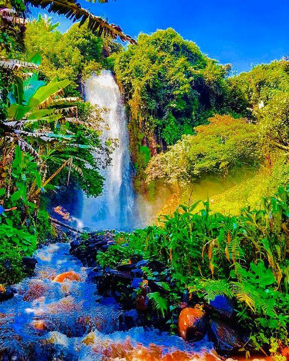 Waterfall - Nyunga art
