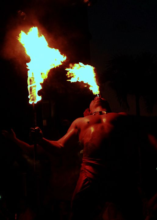 Fire breathing - 5 Angels Photography