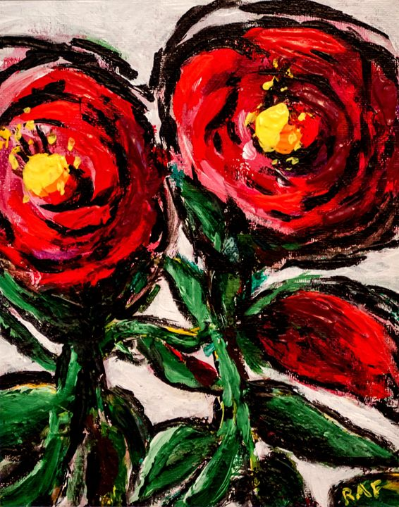 Vibrant Flowers - RAF Creative Art - Oil and Acrylic Paintings