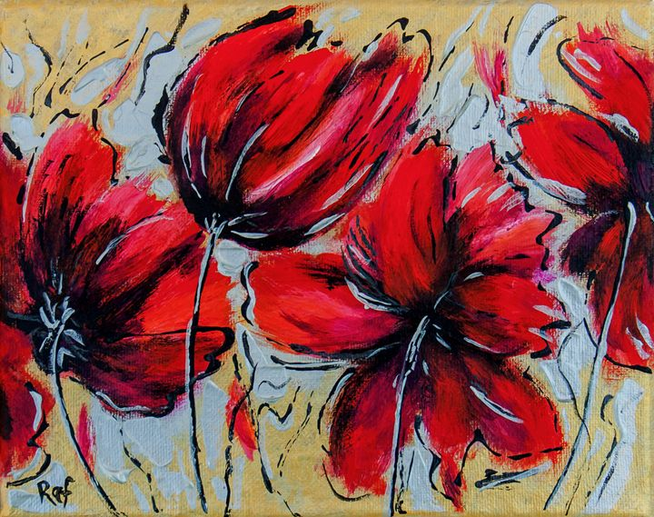 abstract flowers - RAF Creative Art - Oil and Acrylic Paintings