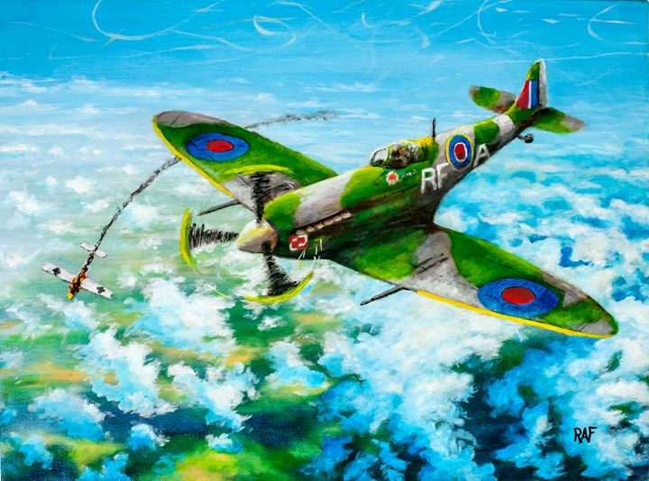 Spitfire Victory - RAF Art - Oil and Acrylic Paintings