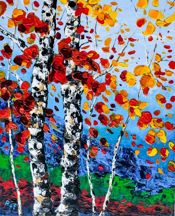 Autumn Birch - RAF Creative Art - Oil and Acrylic Paintings