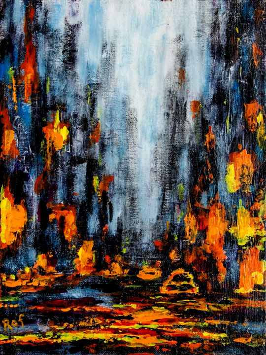 abstract city - RAF Creative Art - Oil and Acrylic Paintings