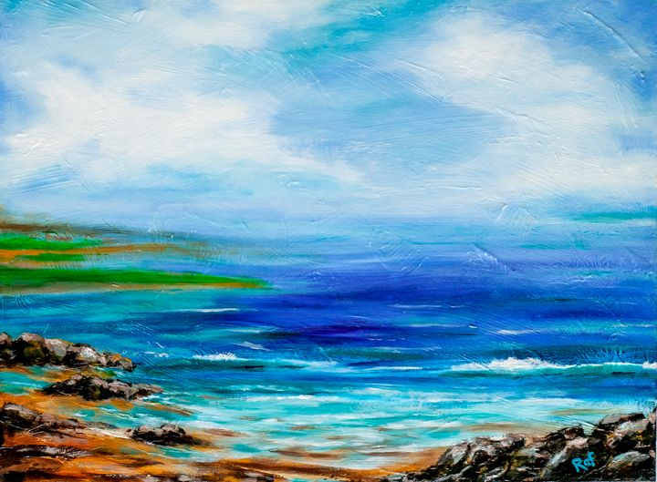 Calm Sea - RAF Art - Oil and Acrylic Paintings