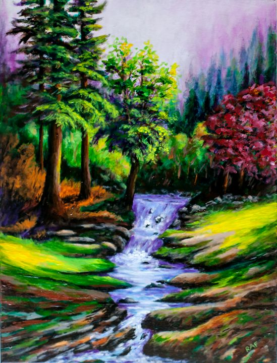 Forest Falls - RAF Creative Art - Oil and Acrylic Paintings