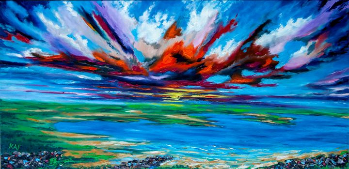 Evening Drama - RAF Art - Oil and Acrylic Paintings