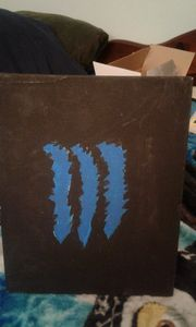 monster energy drink logo blue