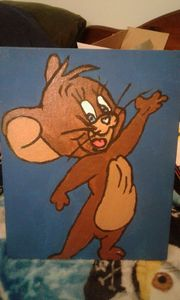 jerry the mouse 2 canvas painting
