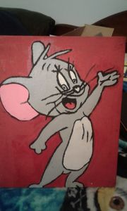 jerry the mouse 1 canvas painting