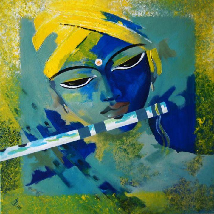 Krishna Painting - Acrylic on canvas - Canvas Paintings