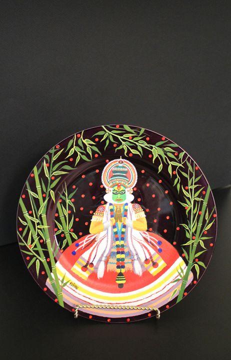 Kathakali Decorative plate - Canvas Paintings