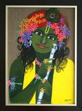 Krishna Painting - Acrylic on Bullet