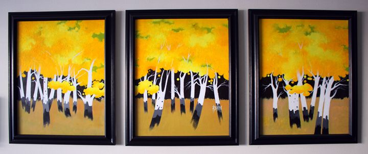 Yellow falls - Acrylic on Canvas - Canvas Paintings
