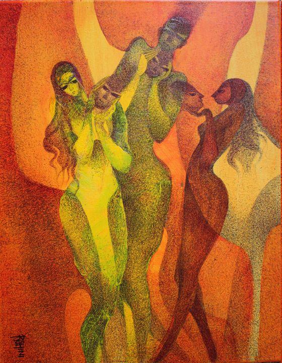 Mind Conversation - Original Acrylic - Canvas Paintings