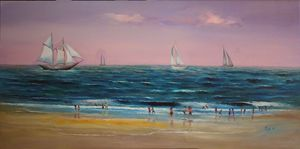 Sea scape - Original Oil on Canvas
