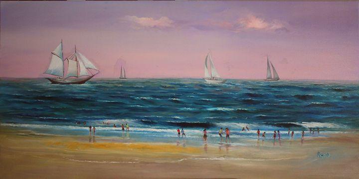 Sea scape - Original Oil on Canvas - Canvas Paintings