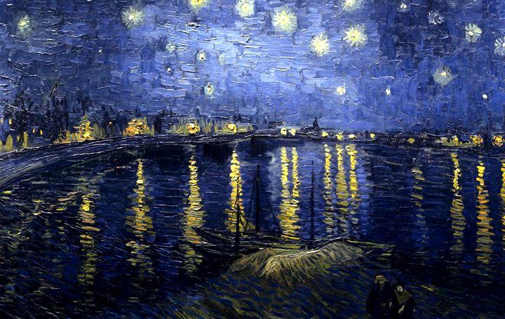 Van Gogh Starry Night Over the Rhone - Alexandra Luiza Dahl