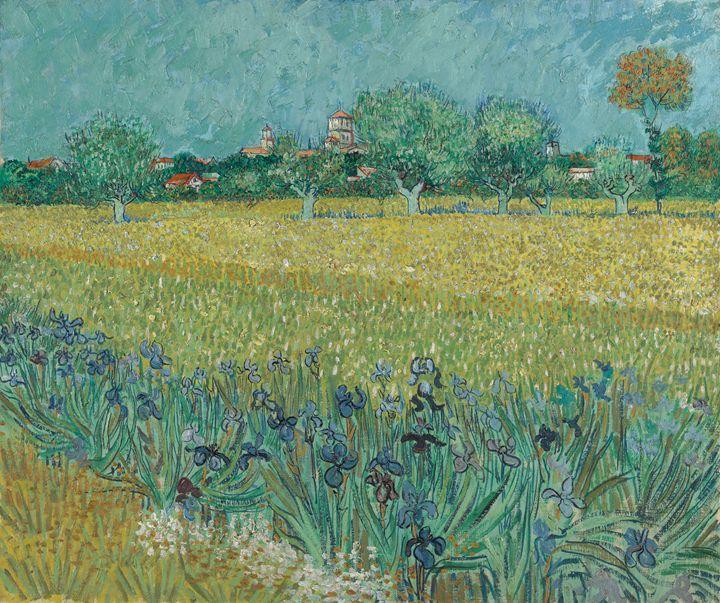 "Van Gogh "" Field with Irises"" - Alexandra Luiza Dahl"