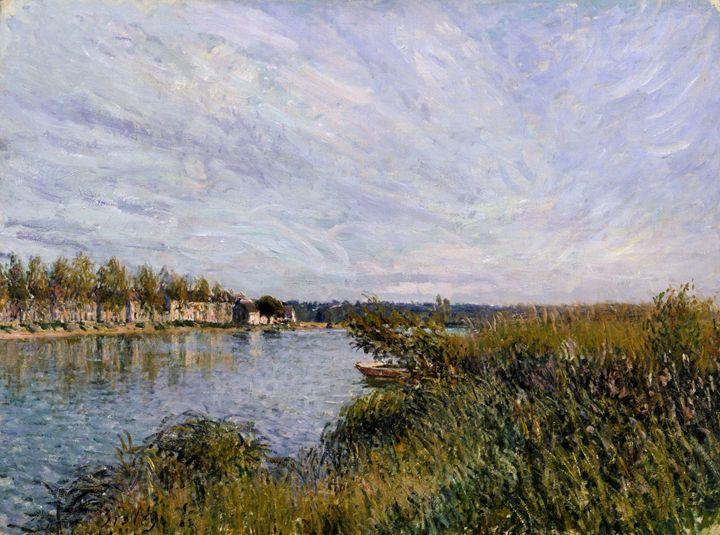 Alfred Sisley - View of Saint-Mammès - Alexandra Luiza Dahl