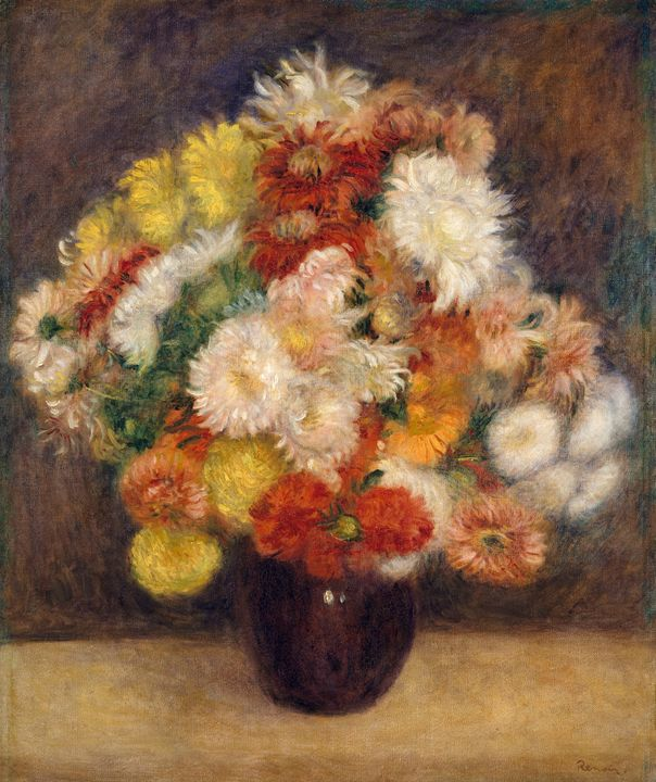 "Renoir ""Bouquet of Chrysanthemums"" - Alexandra Luiza Dahl"