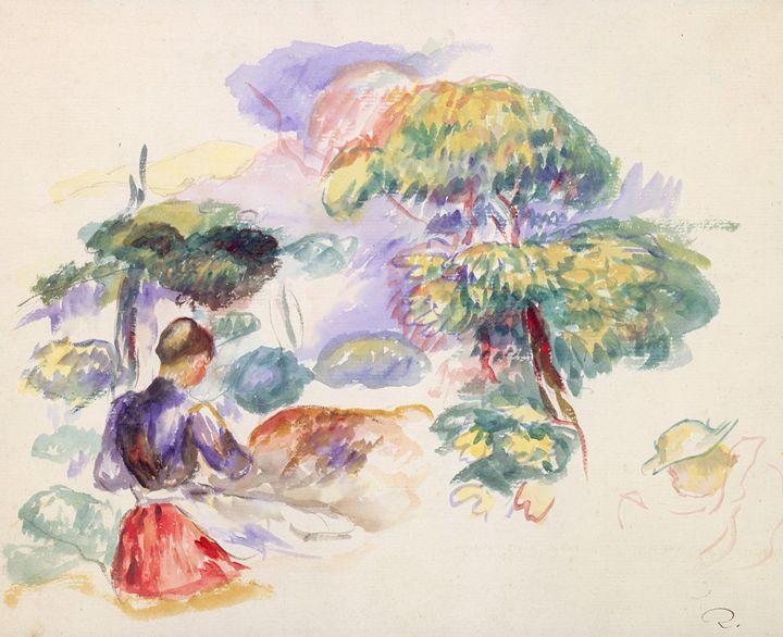 "Renoir ""Landscape with a Girl"" - Alexandra Luiza Dahl"