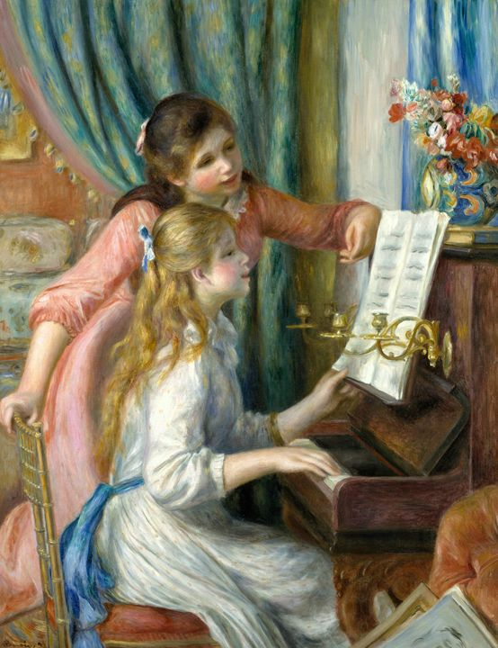Renoir-Two Young Girls at the Piano - Alexandra Luiza Dahl