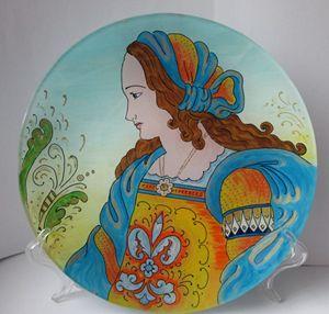 Italian art plate - Alexandra Arts