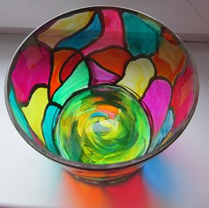 Song of colors - painted bowl - Alexandra Luiza Dahl