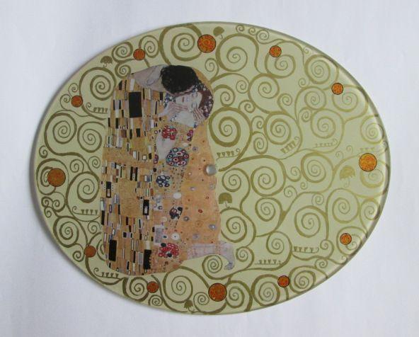 """The Kiss"" G. Klimt - glass watch - Alexandra Luiza Dahl"