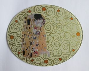 """The Kiss"" G. Klimt - glass watch - Alexandra Luiza Dahl"