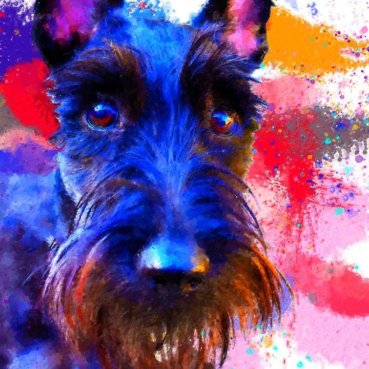 The Deep Blue Scottish Terrier - Alexandra Arts