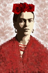 Portrait of Frida Kahlo 1.