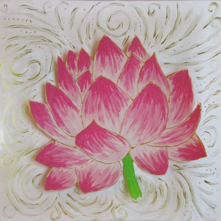 Pink lotus flower - Alexandra Luiza Dahl