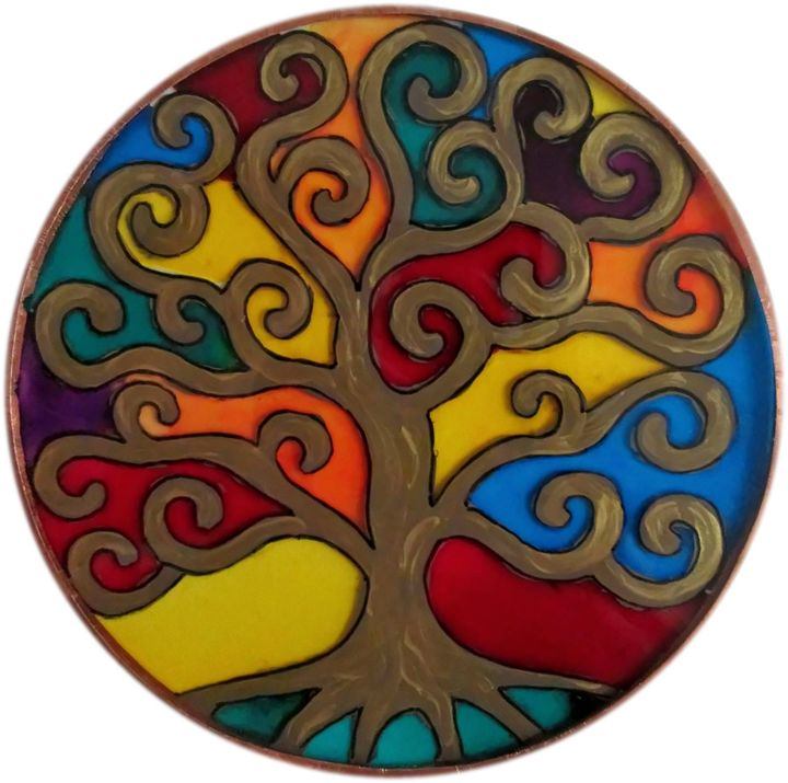 Tree of life colors (round) - Alexandra Luiza Dahl