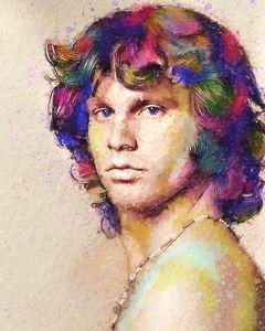 Portrait of Jim Morrison 5.