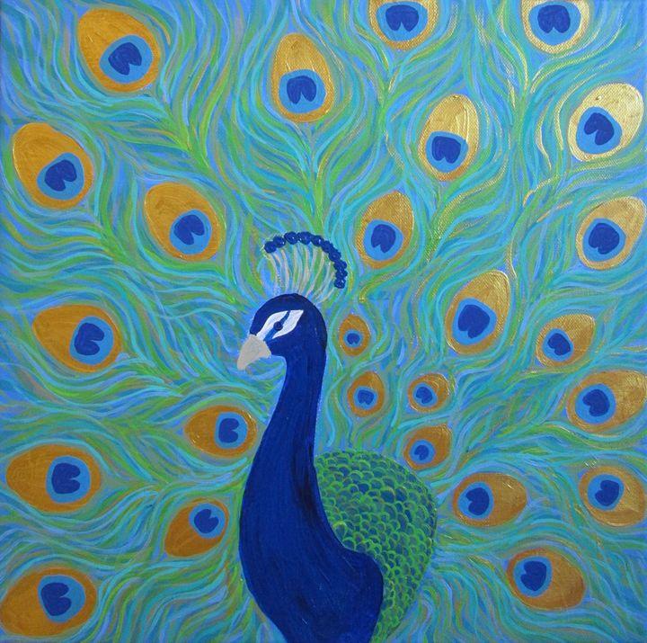 Glamorous peacock - Alexandra Luiza Dahl