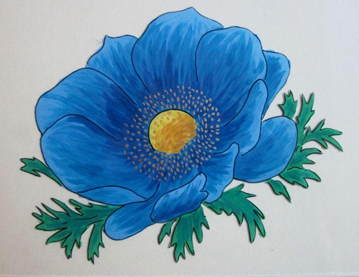 Blue flower song - Alexandra Luiza Dahl