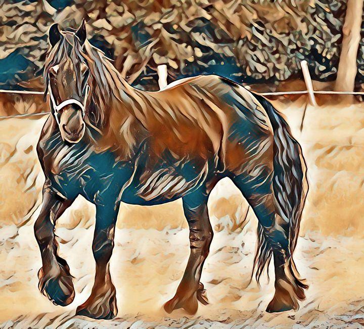 Magnificent horse - Alexandra Luiza Dahl